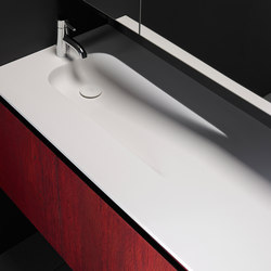 H7 Solidsurface® Washbasin Countertop | Meubles lavabos | Inbani
