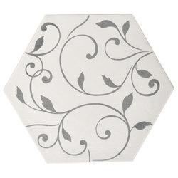 Ornamenti Terra Bianca Damasco Silver | Floor tiles | Valmori Ceramica Design