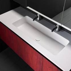 H8 Solidsurface® Washbasin Countertop | Meubles lavabos | Inbani