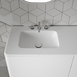 Quadro Corian® top with integrated washbasin | Wash basins | Inbani