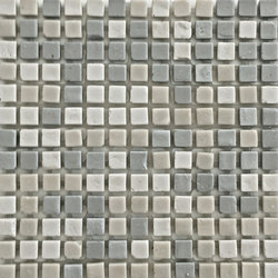 Tesserae Mix 7 (Bianca, Nicole, Anita) | Ceramic mosaics | Valmori Ceramica Design