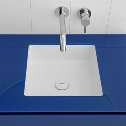 Glaze Square Undermount Ceramilux® Sink | Wash basins | Inbani