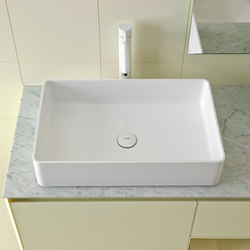 Glaze Rectangular Top Mount Ceramilux® Sink | Lavabos | Inbani