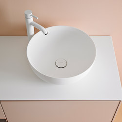 Cerclo Top Mount Matt Corian® Sink | Wash basins | Inbani