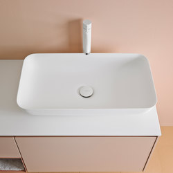 Quadro 65 Top Mount Matt Corian® Sink | Lavabos | Inbani