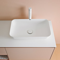Quadro 55 Top Mount Matt Corian® Sink | Wash basins | Inbani