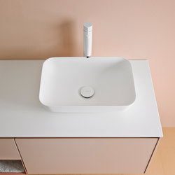Quadro 45 Top Mount Matt Corian® Sink | Lavabos | Inbani