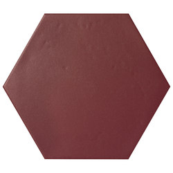 Konzept Color Mood Hexagon Terra Bordeaux | Carrelage céramique | Valmori Ceramica Design