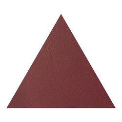Konzept Shapes Triangle Terra Bordeaux | Floor tiles | Valmori Ceramica Design