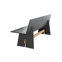 Tension bench with backrest | Garden benches | Conmoto