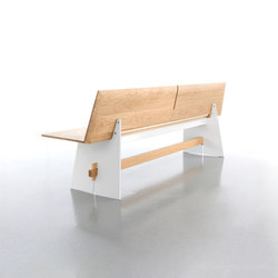 Tension bench with backrest | Panche | conmoto