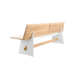 Tension bench with backrest | Bancs | Conmoto