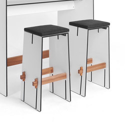 Tension bar stool | Bar stools | Conmoto