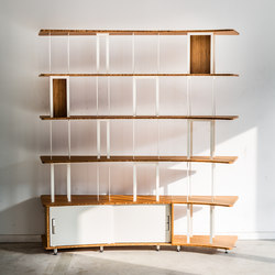 Curve Wood and Steel | Bookshelf | Sistemas de estantería | Jo-a