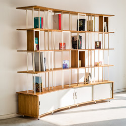 Curve Wood and Steel | Bookshelf | Office shelving systems | Jo-a