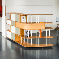 Curve Wood and Steel | Bookshelf | Librerie/scaffali componibili | Jo-a