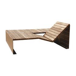 Absolut bain de soleil duo | Exterior benches | CYRIA