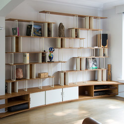 Curve Steel Bookshelf | Office shelving systems | Jo-a