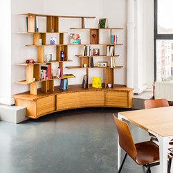 Curve Wood Bookcase | Shelving | Jo-a