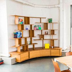 Curve Wood | Bibliothèque | Étagères | Jo-a