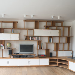 Curve Wood | Bookshelf | Office shelving systems | Jo-a