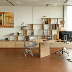Curve Wood Office Space | Sistemi scaffale ufficio | Jo-a