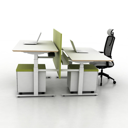 X-Ray Two-seat office desk | Sistemas de mesas | Ergolain