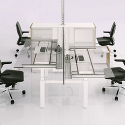 X-Ray Four-seat office desk | Desking systems | Ergolain
