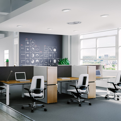 X-Ray Six-seat office desk | Desking systems | Ergolain