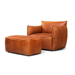 Vasa armchair with arms with pouf | Lounge chairs | Jess Design