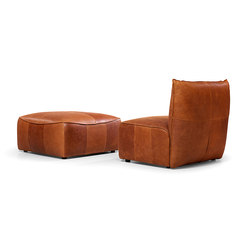 Vasa armchair without arms with pouf | Poltrone lounge | Jess Design