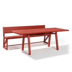 Stijl table and bench | Mesas y bancos | Lampert