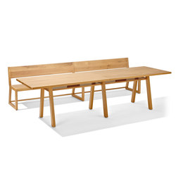 Stijl table and bench | Tables and benches | Richard Lampert