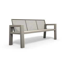 Sicorum M 100 Bench with armrests | Exterior benches | BENKERT-BAENKE