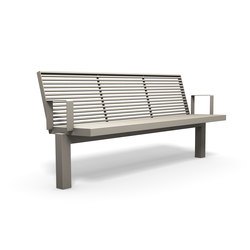 Sicorum M 400 Bench with armrests | Bancos de exterior | BENKERT-BAENKE