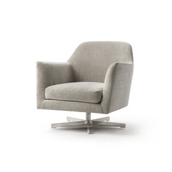 Luce Swiveling Armchair | Lounge chairs | Flexform