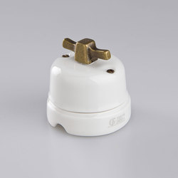 White Italy⎟Modern bronze | Rotary switches | Gi Gambarelli