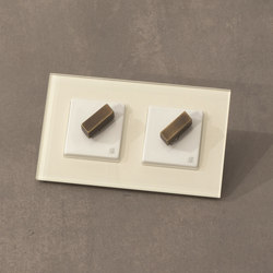 Arreda square⎟double switch | Rotary switches | Gi Gambarelli