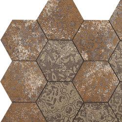 Mosaico Esagona dek bronze | Ceramic mosaics | Ceramiche Supergres