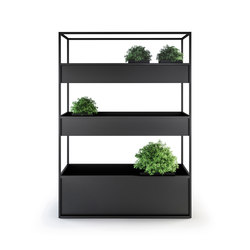 Planter / Flower pot | Planter Carl 1400 3 boxes | Pannelli frangivista | Röshults