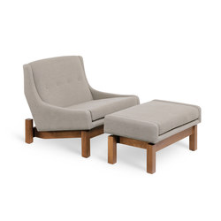 Paraty armchair⎟footstool | Lounge chairs | LinBrasil