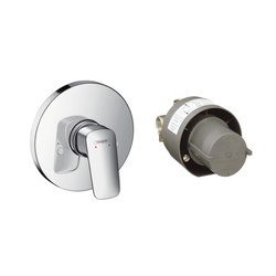 Hansgrohe Logis Ensemble Set de finition pour mitigeur douche encastré + corps d'encastrement | Shower taps / mixers | Hansgrohe