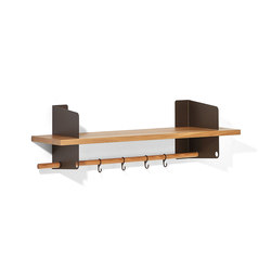 Atelier coat-rack | shelving | 1000 mm | Guardaroba a muro | Lampert