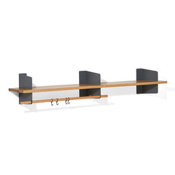 Atelier coat-rack | shelving | 1600 mm | Guardaroba a muro | Lampert