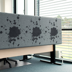 Kurage Table Screen System 50 | Rounded | Street Vue | Table dividers | Kurage