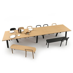 Beech Connect 71 rectangle | Canteen tables | DUM