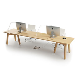 Beech Connect 71 rectangle | Systèmes de tables de bureau | DUM