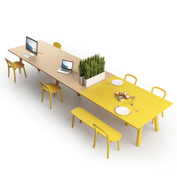 Beech Connect 71 rectangle | Tables de cantine | DUM