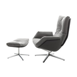 Cordia Lounge easy chair with a stool | Sillones | COR