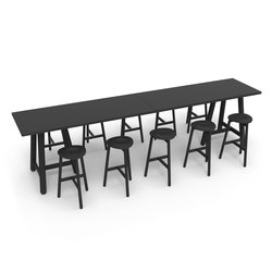 Beech Connect 100 rectangle | Tables de réunion debout | DUM